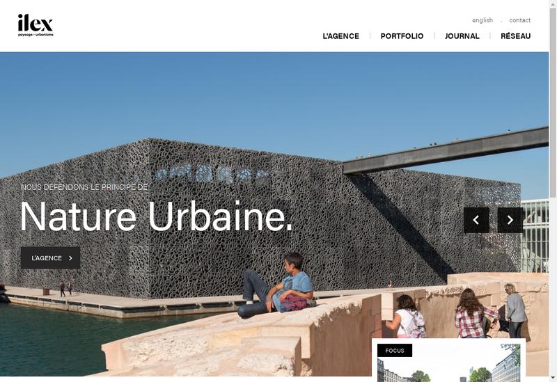 Capture d'écran du site de ILEX