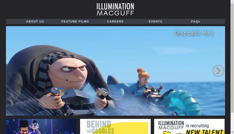 Capture d'écran du site de Illumination Mac Guff