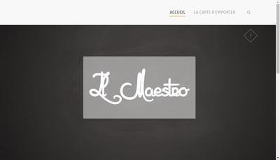 Site internet de Il Maestro