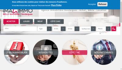 Capture d'écran du site de Imagimmo Vendargues