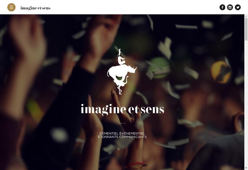 Capture d'écran du site de Imagine & Sens