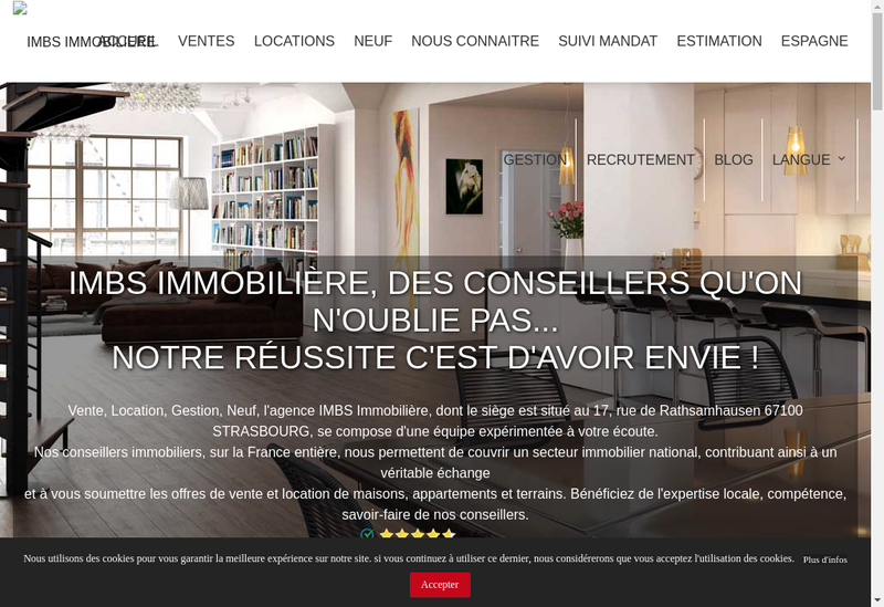Capture d'écran du site de Imbs Immobiliere
