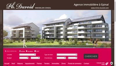 Site internet de Duvoid Immobilier