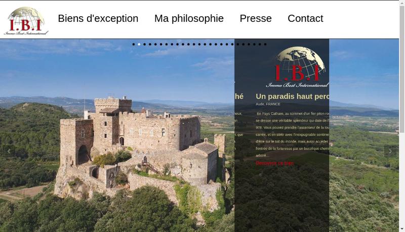 Capture d'écran du site de Immo Best International