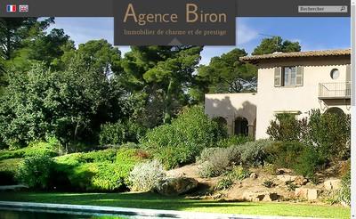 Site internet de Agence Biron