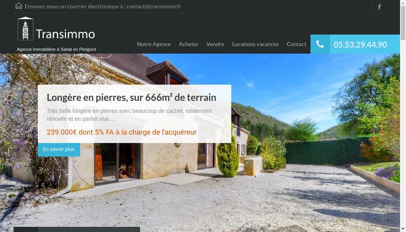 Capture d'écran du site de Perigord Quercy Immobilier