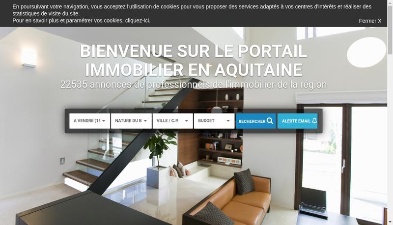 Capture d'écran du site de Financiere Clemenceau Immobilier