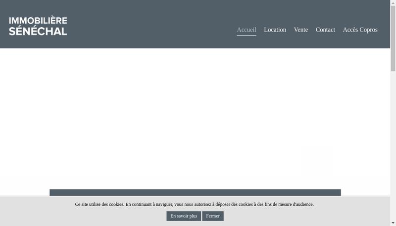 Capture d'écran du site de Societe Immobiliere Senechal