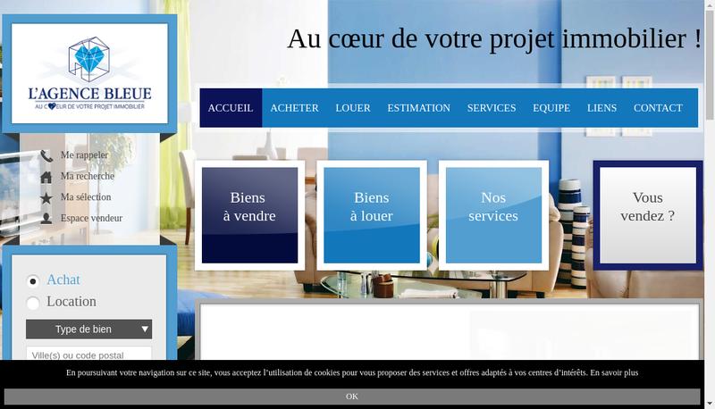 Capture d'écran du site de Immo Contact