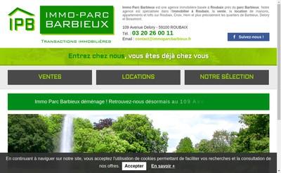 Site internet de Immoparc Barbieux