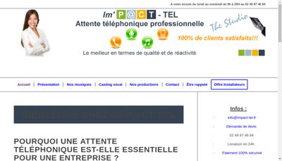 Capture d'écran du site de Ingen Musicale Prod Arr Compos Tuning