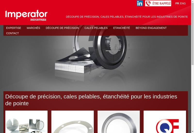 Capture d'écran du site de Joints Industriels