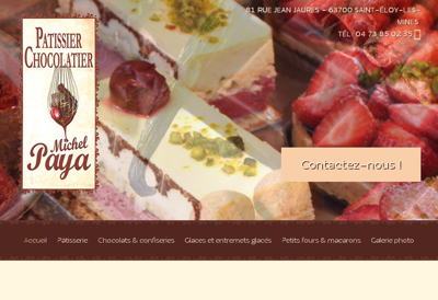 Capture d'écran du site de SARL Impressions de la Cite