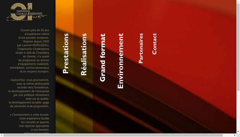 Capture d'écran du site de Imprimerie Challesienne