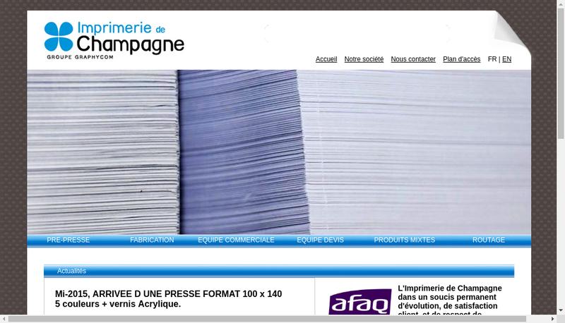 Capture d'écran du site de Rotochampagne