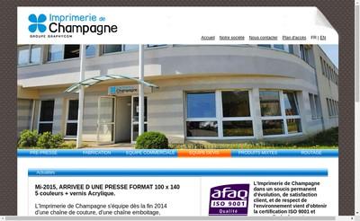 Site internet de Rotochampagne