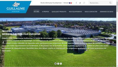 Capture d'écran du site de Web Tech