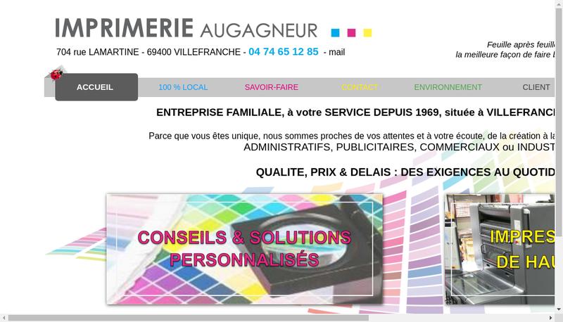 Capture d'écran du site de Imprimerie Augagneur