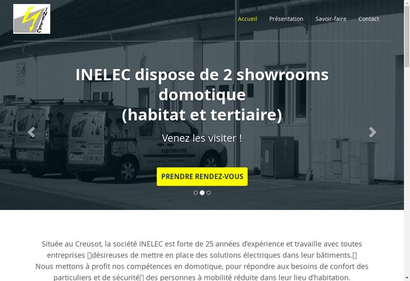 Capture d'écran du site de Inelec