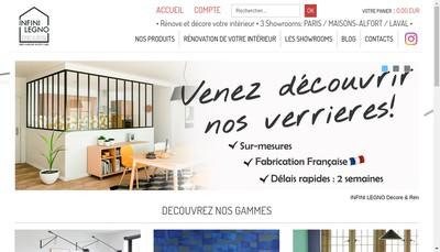 Site internet de Infini Legno
