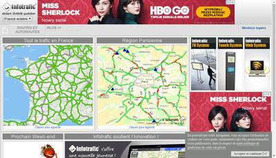 Capture d'écran du site de System Tv