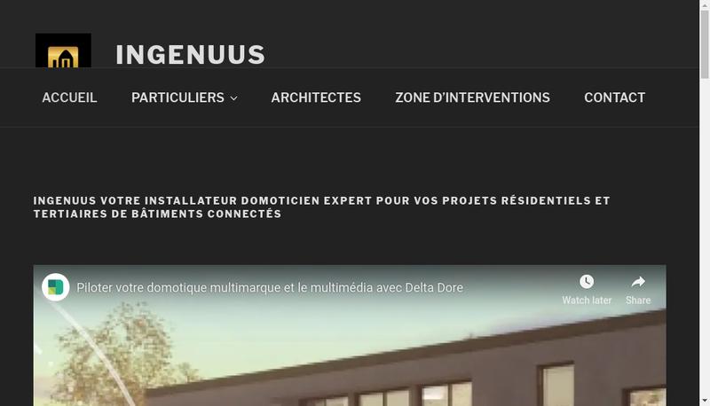 Capture d'écran du site de Ingenuus