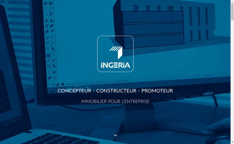 Capture d'écran du site de SAS Ingeria