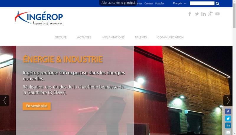 Capture d'écran du site de Ingerop International