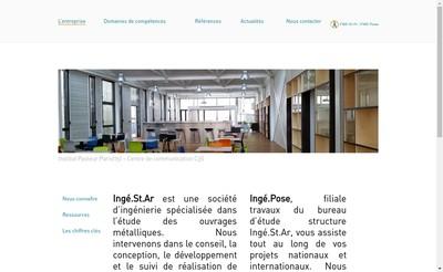 Site internet de L'Ingenierie au Service des Structures et de l'Architecture