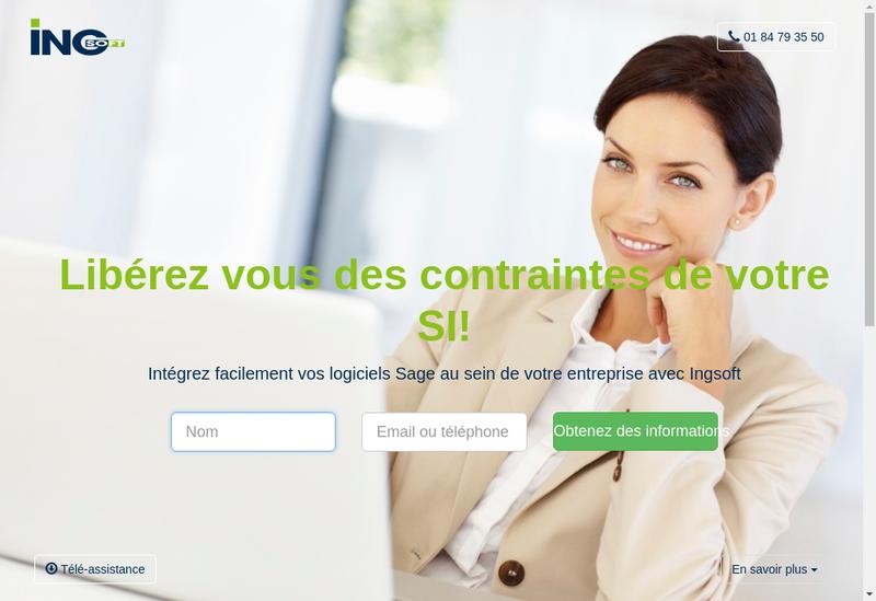 Capture d'écran du site de Ingsoft