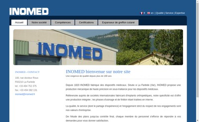 Site internet de Inomed