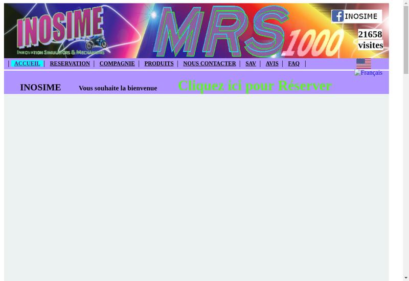Capture d'écran du site de Inosime
