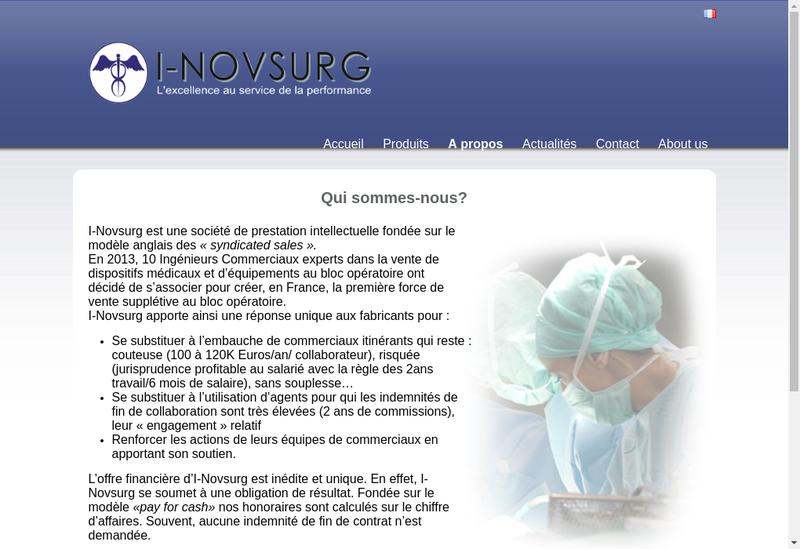 Capture d'écran du site de I Novsurg