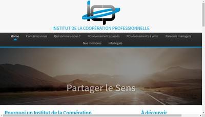 Site internet de Institut de la Cooperation Professionnelle