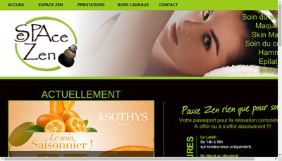 Site internet de Espace Zen