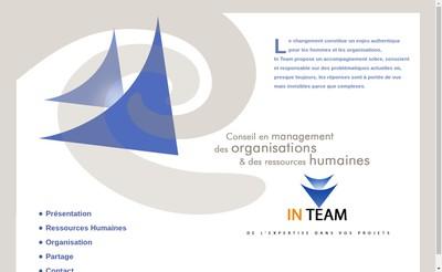 Site internet de In Team Sarl