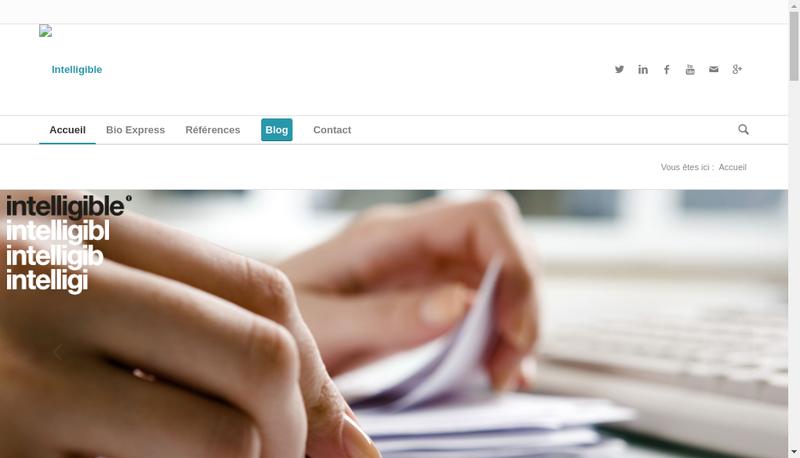 Capture d'écran du site de Intelligible