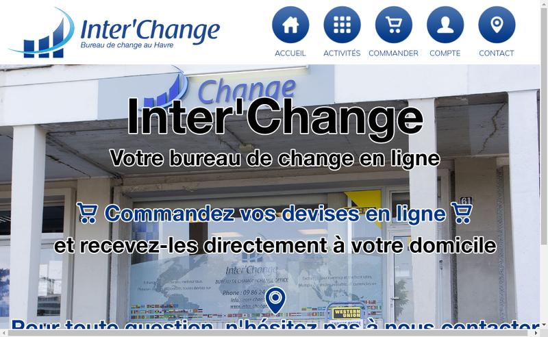 Capture d'écran du site de Inter'Change