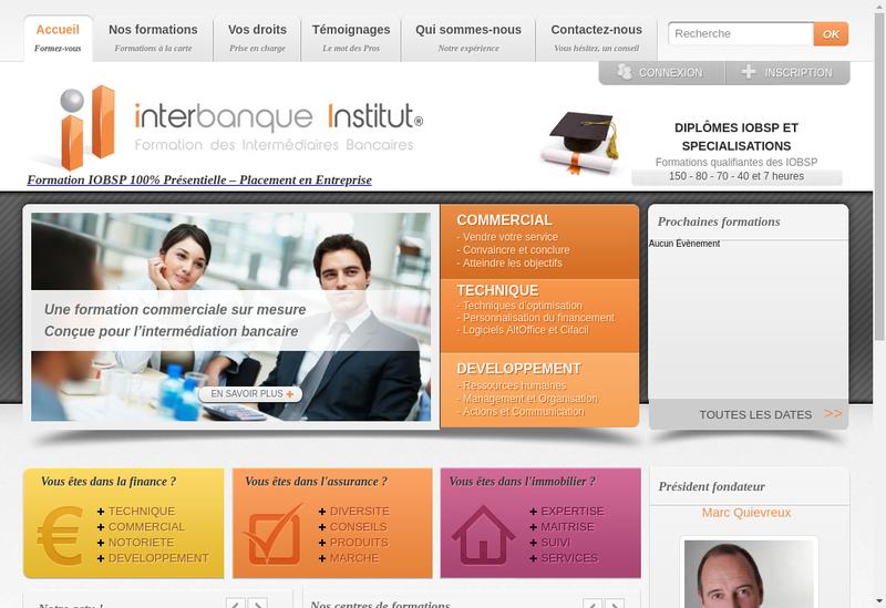 Site internet de Interbanque Institut