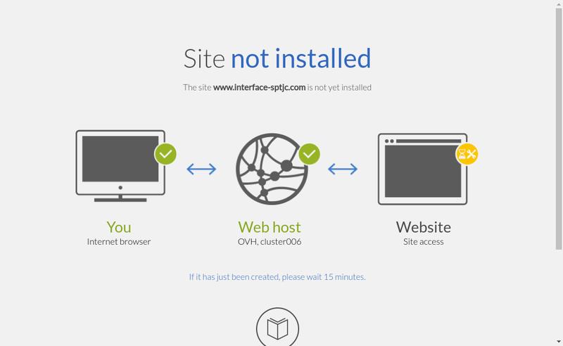Capture d'écran du site de Interface