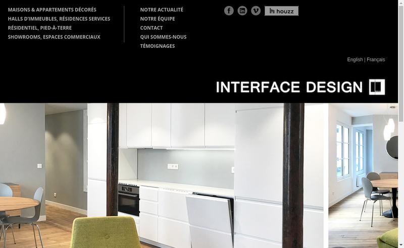 Capture d'écran du site de Interface Design
