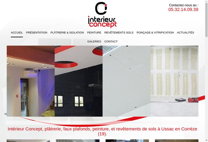 Capture d'écran du site de Interieur Concept