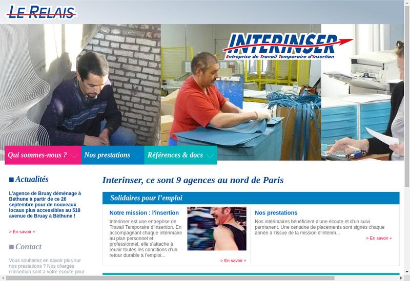 Capture d'écran du site de Ebs Interinser 62