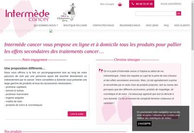 Site internet de Intermede Cancer