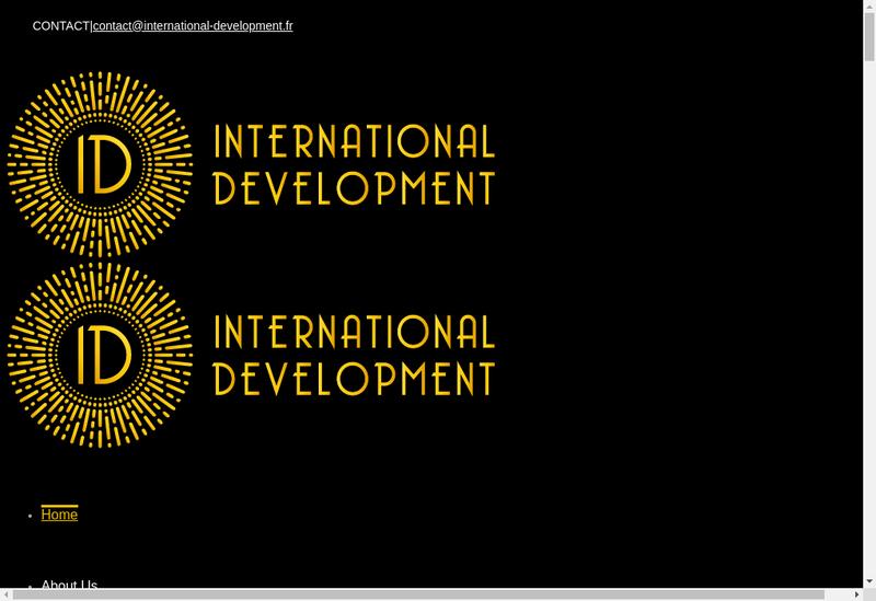 Capture d'écran du site de Id International Development