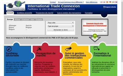 Site internet de Trade Connection
