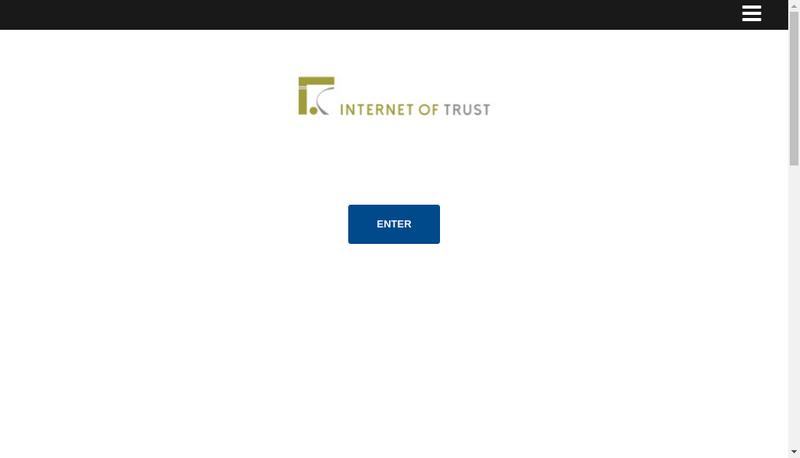 Capture d'écran du site de Internet Of Trust