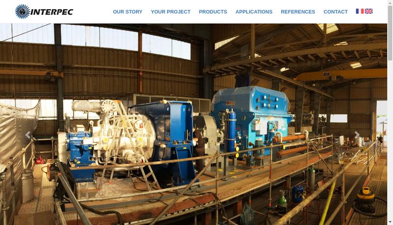 Capture d'écran du site de Interpec France