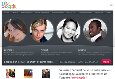 Capture d'écran du site de Interpeople