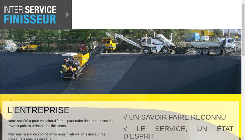 Capture d'écran du site de Inter Service Finisseur